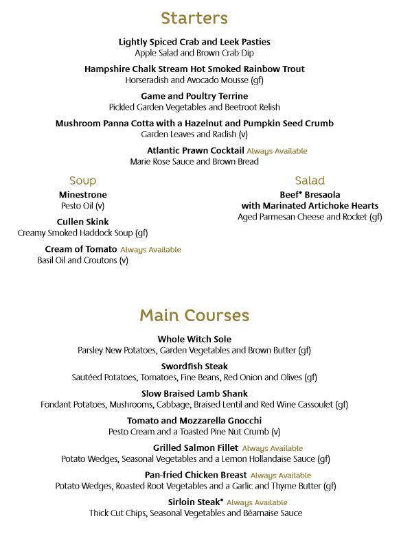 azura-1st night menu