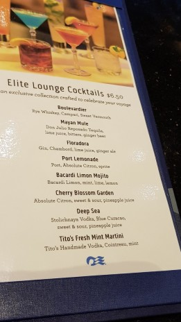 Elite Lounge Cocktails