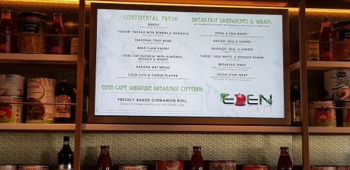 Eden Breakfast Menu