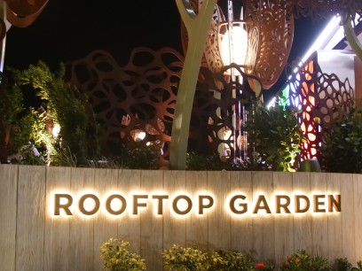 Rooftop Garden Grill sign